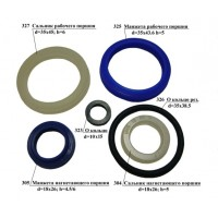 Ремкомплект для гидроузла тележки-рохли (набор сальников)